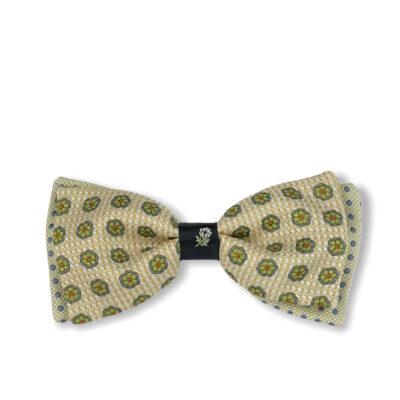 Παπιγιόν Μπεζ - Πράσινο 100% Silk