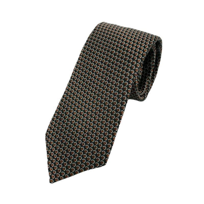 Γραβάτα Microfibra Μαύρη - Κεραμιδί 202-10-0930-1107-1