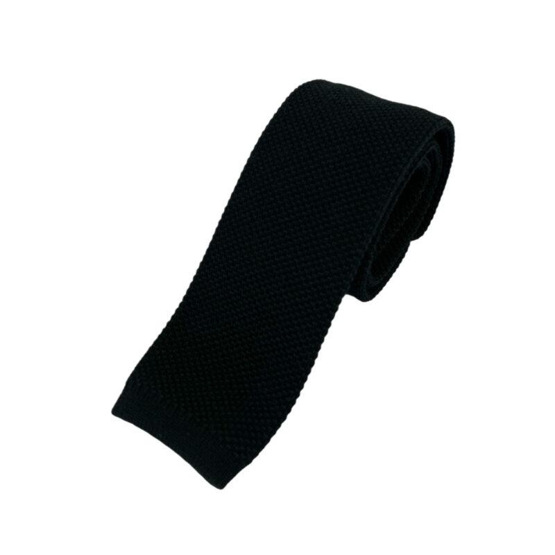Γραβάτα Πλεκτή Microfibra Μαύρη 202-14-1250-1266-3