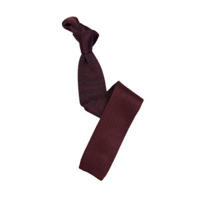 Γραβάτα Πλεκτή Microfibra Μπορντώ - Μπλε 202-14-1250-1268-1