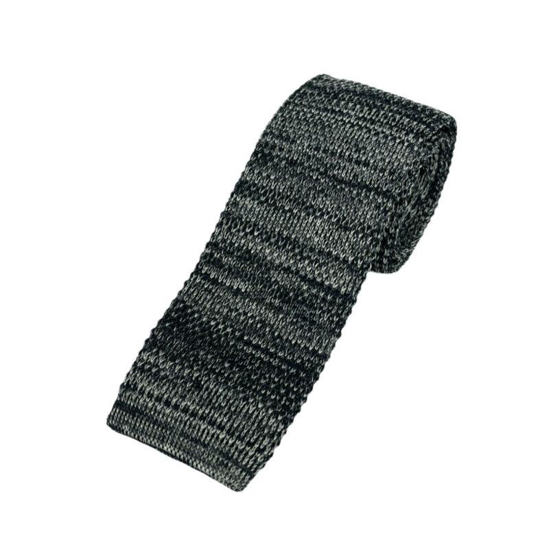 Γραβάτα Πλεκτή Microfibra Μαύρη - Γκρι 202-14-1250-1271-1