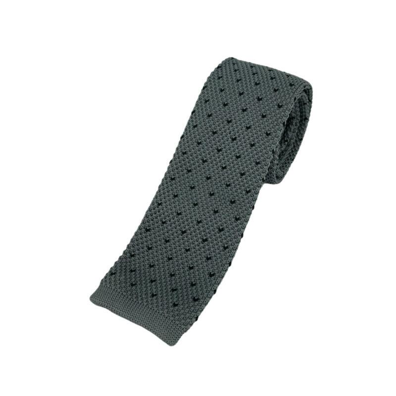 Γραβάτα Πλεκτή Microfibra Γκρι - Μαύρη 202-14-1250-1272-1