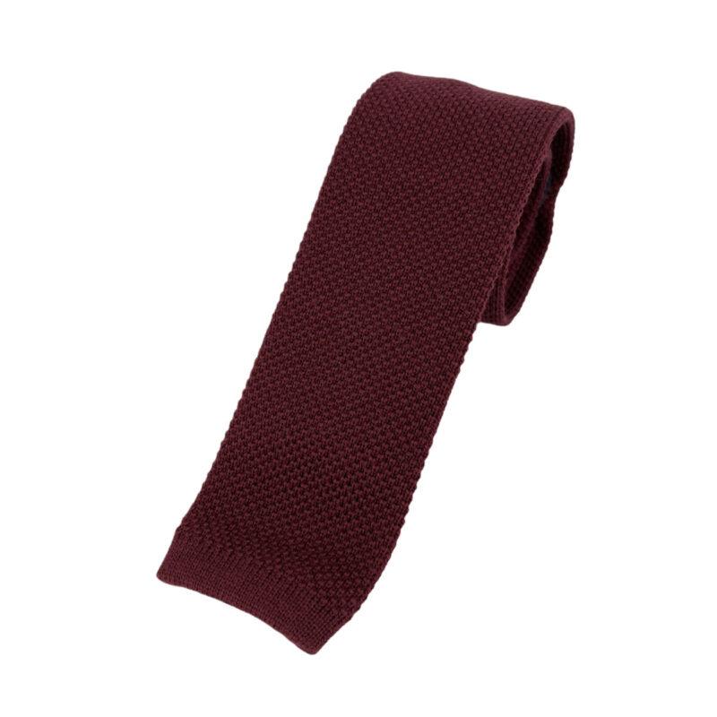 Γραβάτα Πλεκτή Μάλλινη Μπορντώ 202-17-1750-1700-3