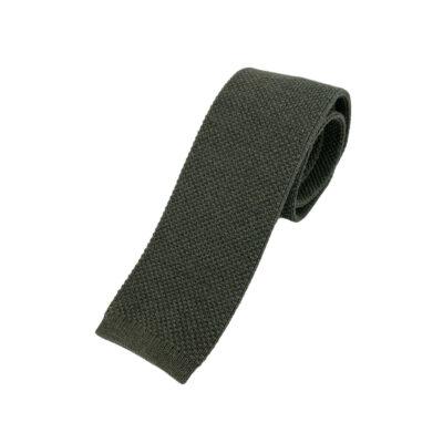Γραβάτα Πλεκτή Μάλλινη Λαδί 202-17-1750-1700-5