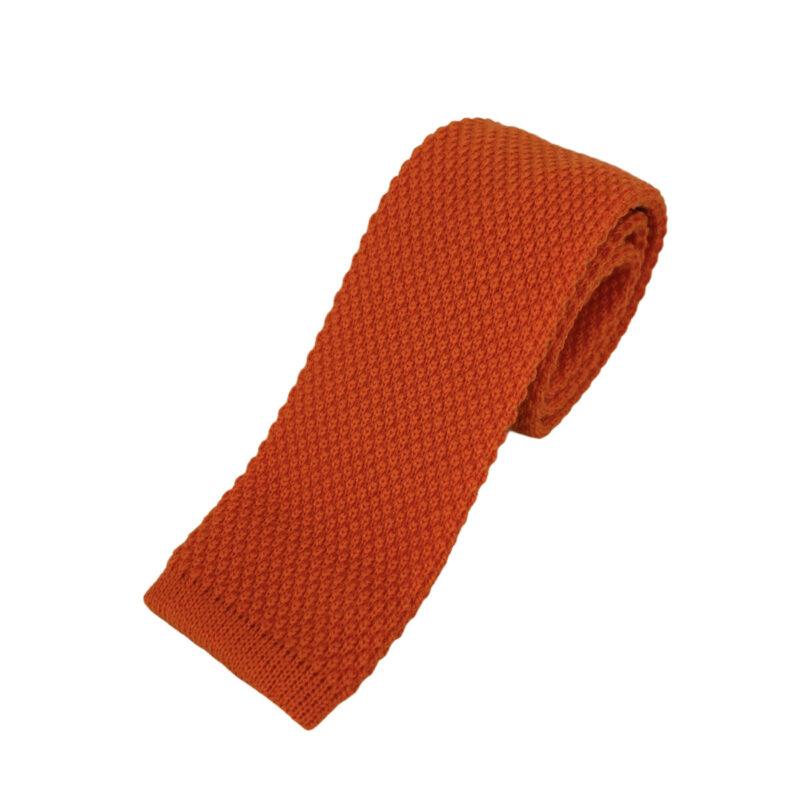 Γραβάτα Πλεκτή Μάλλινη Πορτοκαλί 202-17-1750-1701-1