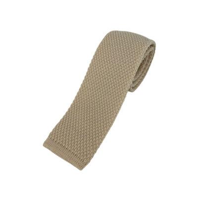 Γραβάτα Πλεκτή Μάλλινη Μπεζ 202-17-1750-1701-2