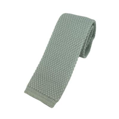 Γραβάτα Πλεκτή Μάλλινη Γκρι Πάγου 202-17-1750-1701-3