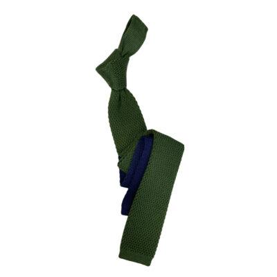 Γραβάτα Πλεκτή Μάλλινη Πράσινη - Μπλε Ρουά 202-17-1750-1702-1