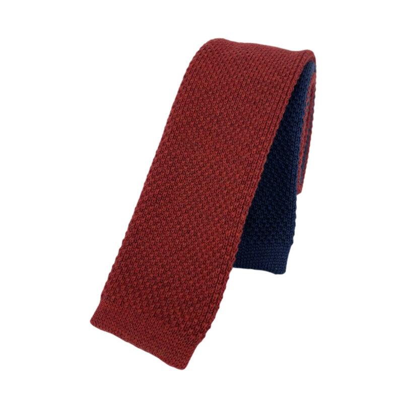 Γραβάτα Πλεκτή Μάλλινη Κόκκινη - Μπλε Ρουά 202-17-1750-1702-2