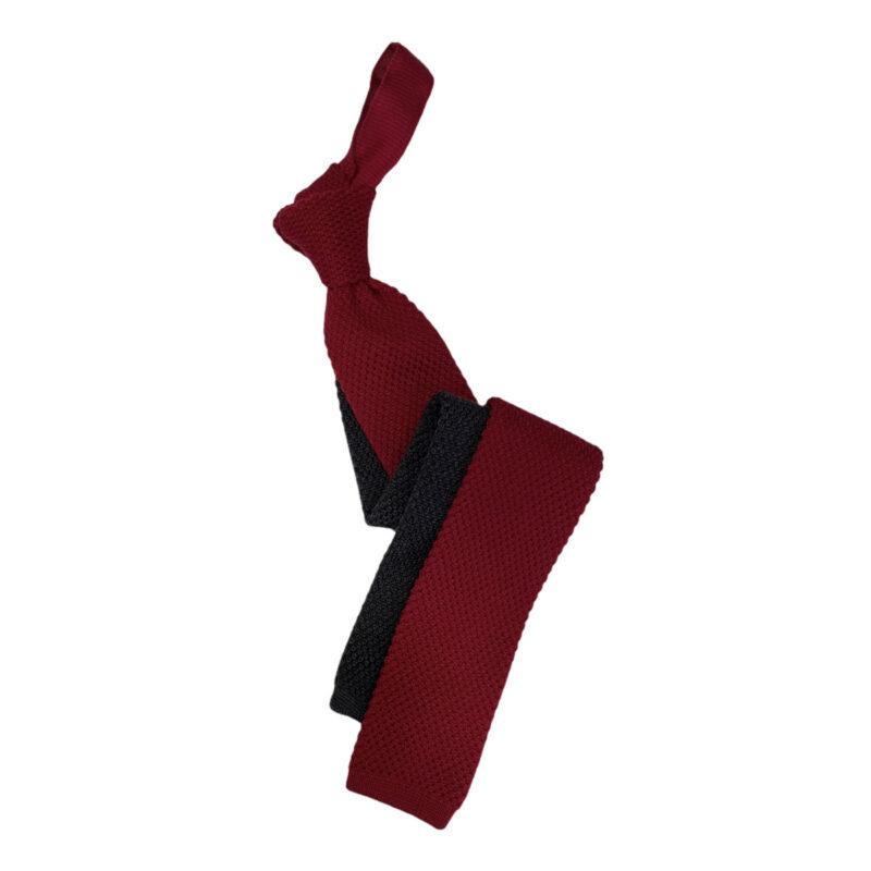 Γραβάτα Πλεκτή Μάλλινη Κόκκινη - Γκρι 202-17-1750-1703-2