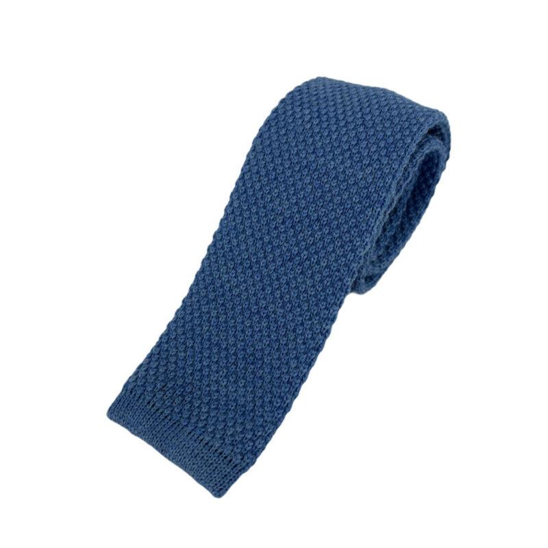 Γραβάτα Πλεκτή Μάλλινη Γαλάζιο 202-17-1750-1704-1