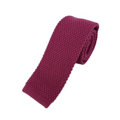 Γραβάτα Πλεκτή Μάλλινη Ροζ 202-17-1750-1705-1
