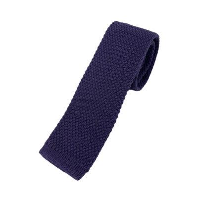 Γραβάτα Πλεκτή Μάλλινη Μωβ 202-17-1750-1710-1
