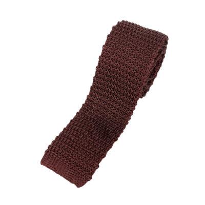 Γραβάτα Πλεκτή Μεταξωτή Μπορντώ  202-22-1950-2201-1