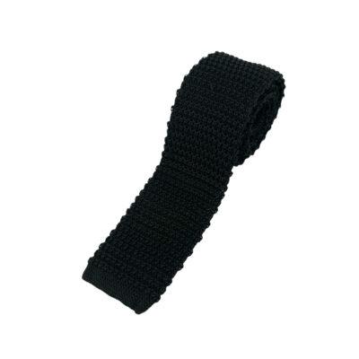 Γραβάτα Πλεκτή Μεταξωτή Μαύρη 202-22-1950-2201-3