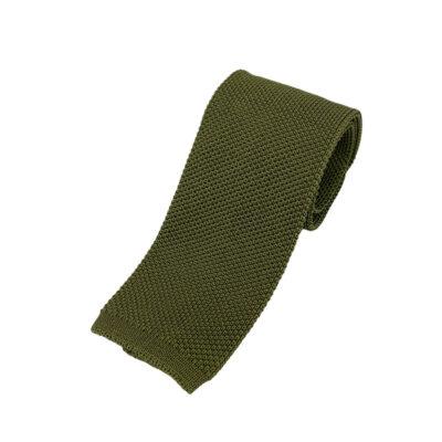Γραβάτα Πλεκτή Μεταξωτή Λαδί 202-22-1950-2203-1
