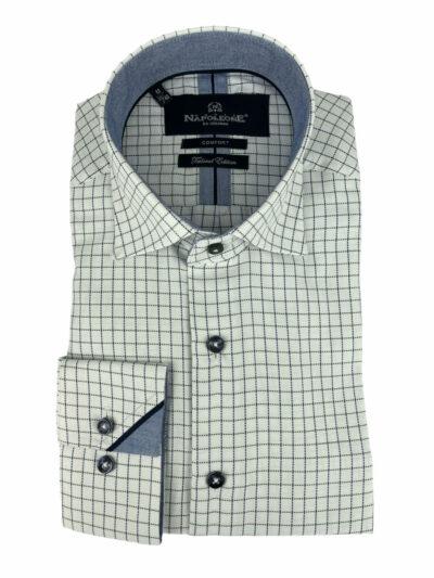 Πουκάμισο Λευκό Καρό 202-30-2495-3175-4 Comfort
