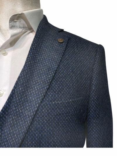 Σακάκι μονόχρωμο Μπλε Comfort 202-71-8285-7361-4