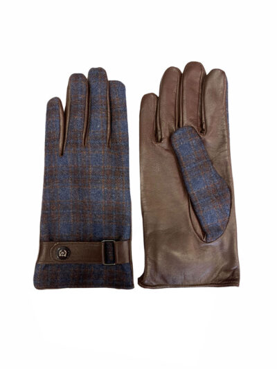 Δερμάτινα Γάντια Καφέ 202-86-1950-7343-6