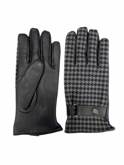 Δερμάτινα Γάντια Μπλε 202-86-1950-7343-7