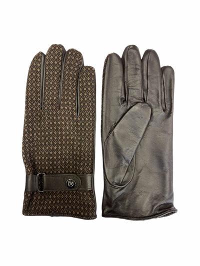 Δερμάτινα Γάντια Καφέ 202-86-1950-7343-8