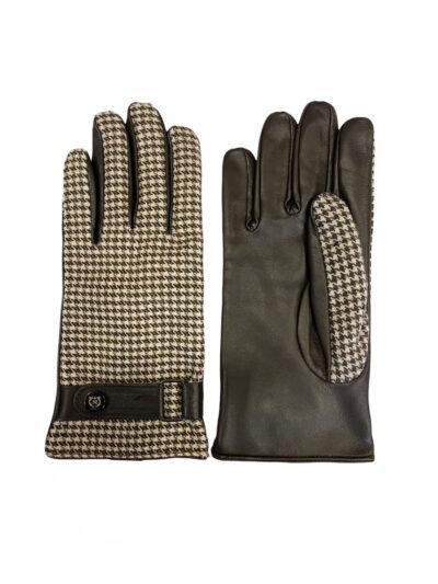 Δερμάτινα Γάντια Καφέ 202-86-1950-7346-2