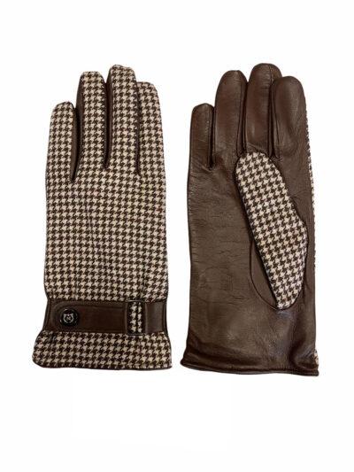 Δερμάτινα Γάντια Καφέ 202-86-1950-7346-5