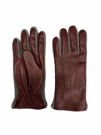 Δερμάτινα Γάντια Μπορντώ 202-86-2285-8601-4
