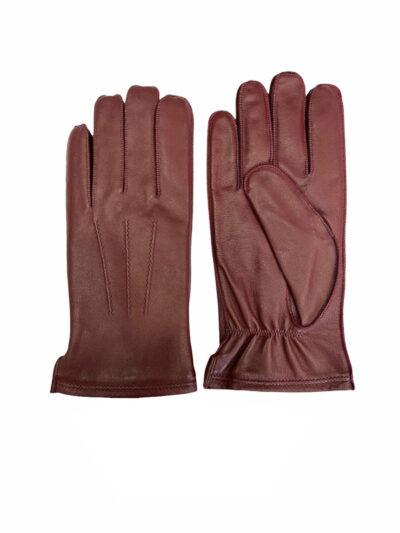Δερμάτινα Γάντια Μπορντώ 202-86-2285-8655-3