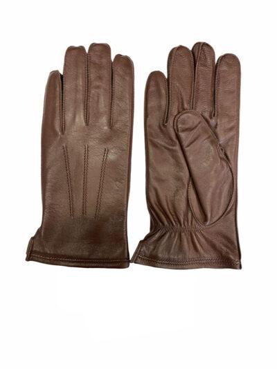 Δερμάτινα Γάντια Καφέ 202-86-2285-8655-4