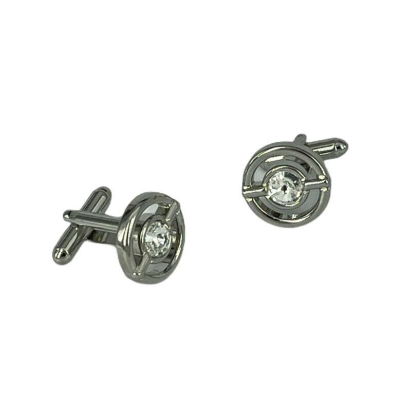 Μανικετόκουμπα Ασημί 202-95-1535-9605-1