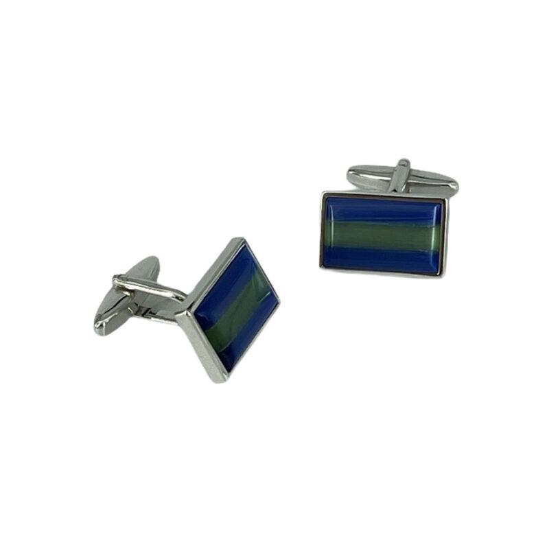 Μανικετόκουμπα Μπλε - Πράσινα 202-95-1850-9731-1