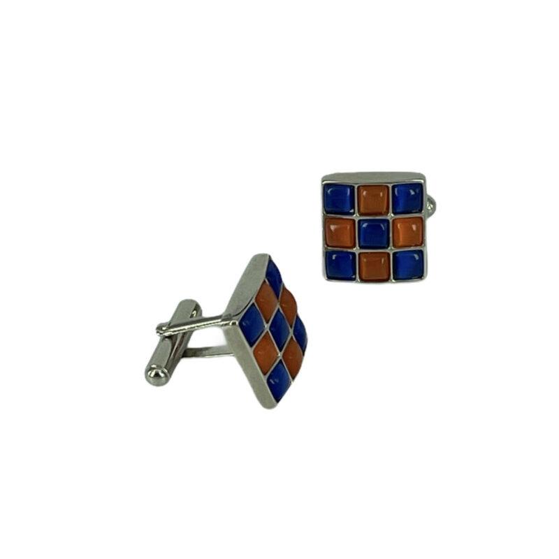 Μανικετόκουμπα Μπλε - Πορτοκαλί 202-95-1850-9733-1