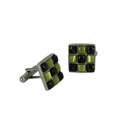 Μανικετόκουμπα Πράσινο - Γκρι 202-95-1850-9733-2