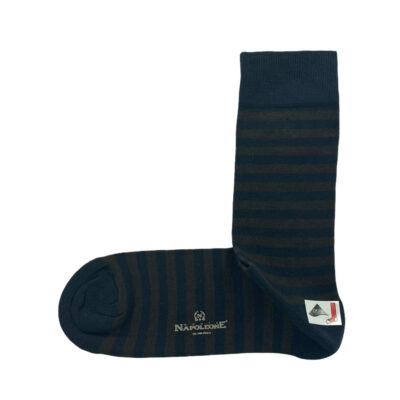 Κάλτσες Μπλε - Καφέ Ρίγες