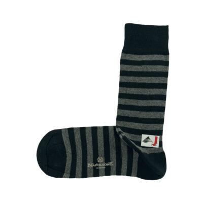 Κάλτσες Μαύρες - Γκρι Ρίγες