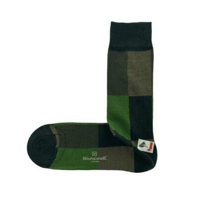 Κάλτσες Πράσινες - Λαδί Jacquard