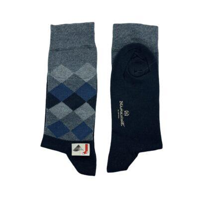 Κάλτσες Μπλε - Ραφ Jacquard