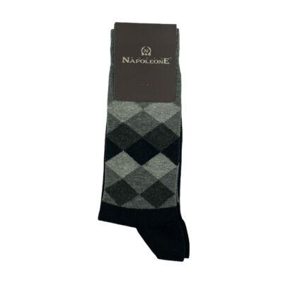 Κάλτσες Μαύρες - Γκρι Jacquard