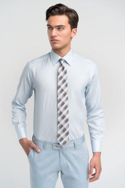 Πουκάμισο Γαλάζιο - Λευκό Ριγέ Comfort