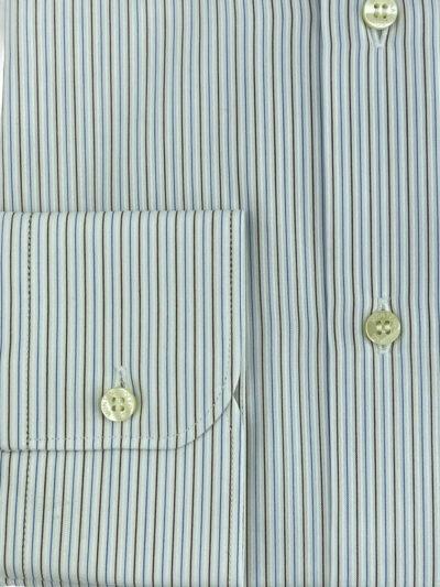 Πουκάμισο Λευκό - Γαλάζιο Ριγέ Comfort