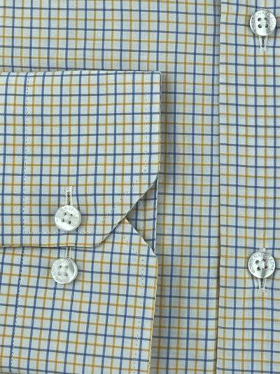 Πουκάμισο Λευκό -  Μπλε Καρό Comfort