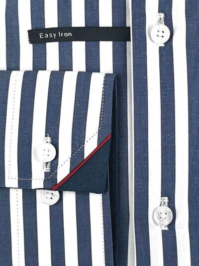 Πουκάμισο Λευκό - Μπλε Ριγέ Comfort