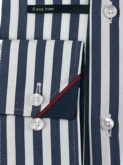 Πουκάμισο Λευκό - Μπλε Ριγέ Interfit