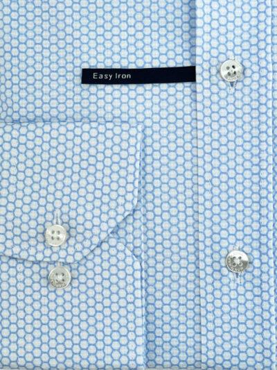 Πουκάμισο Γαλάζιο - Λευκό Print Interfit