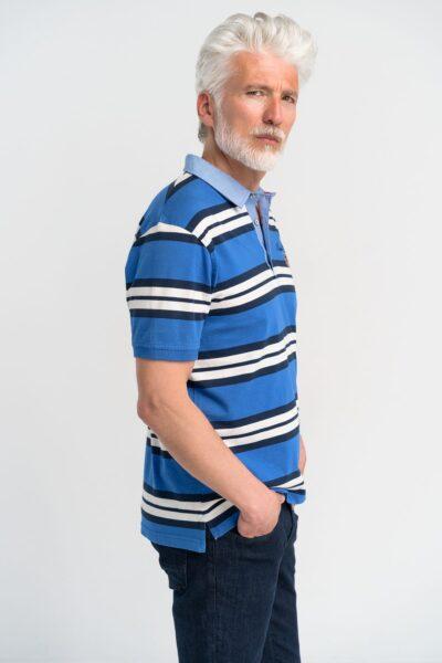 Μπλούζα πόλο ριγέ Ρουά