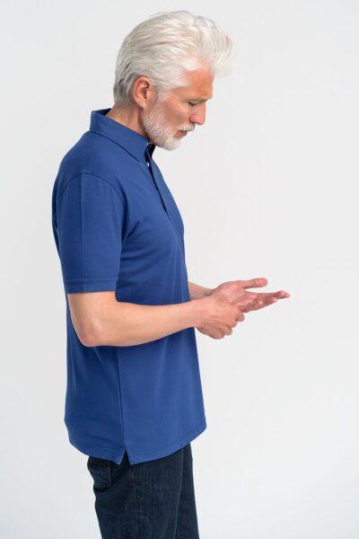 Μπλούζα πόλο μονόχρωμη Ρουά