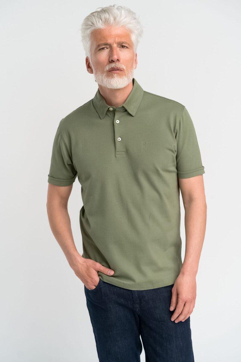 Μπλούζα πόλο μονόχρωμη Olive Green