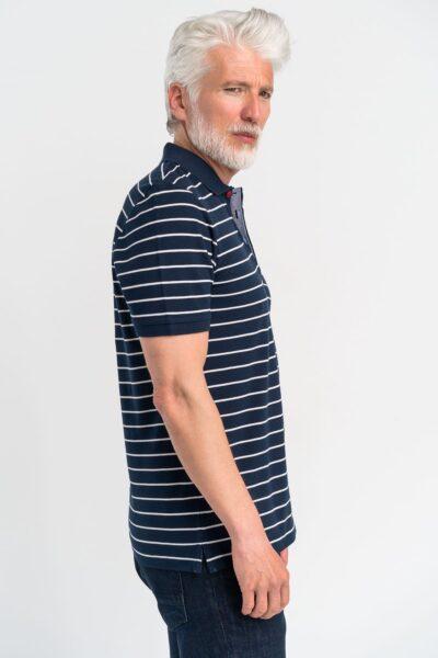 Μπλούζα πόλο ριγέ Μπλε