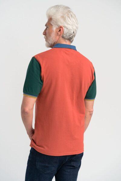 Μπλούζα πόλο μονόχρωμη Burnt Orange